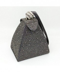 De FGG Vintage Diamond Mini Wristlet Clutch