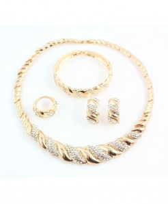 Gold Color African Trendy Jewelry Set