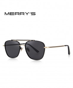 MERRY Black Polarized Square Sunglasses C1