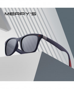 MERRY Classic Retro Rivet Polarized Square Sunglasses
