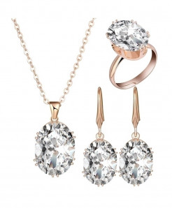 White Luxury Cubic Zircon Jewelry Sets