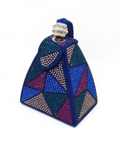 De FGG Colorful Diamonds Mini Wristlet Clutch