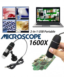 Mega Pixels 1600X 8 LED Digital Camera Magnifier Electronic Tweezers Microscope
