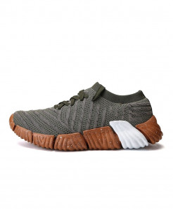 Joomra Army Green Breathable Knit Athletic Sport Sneakers