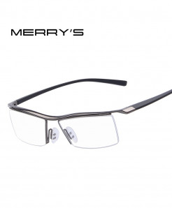 MERRYS Gray Titanium Optical Frame