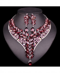 Chaoyite Rhinestone Jewellery Set For Woman