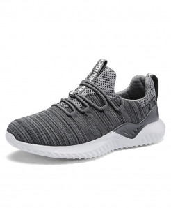 Gray Running -up Athletic Trainers Zapatillas Sports Shoes