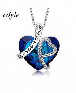 Cdyle Love You Forever Crystals Pendant