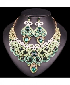 Chaoyite Green  Luxury Jewelry Set For Women