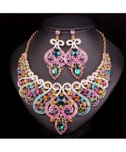 Chaoyite Multicolor Luxury Jewelry Set For Women