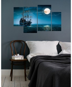 Digital Printed Night View Canvas Wall Frame BNS-274