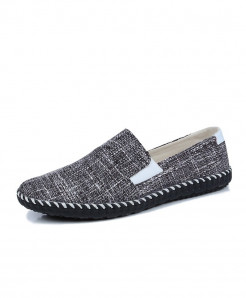 Black Lightweight Slip on Male Fashion Hemp Sneakers