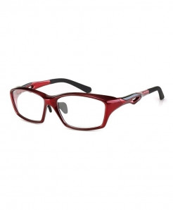 ELECCION Dark Red Sport Style Glass Frame
