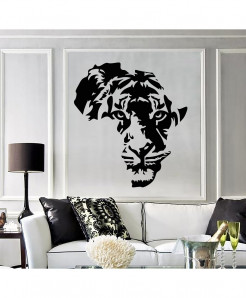 Lion Face Stylish Wall Decal BNS-227