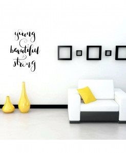 Young Beautiful Design Wall Decal BNS-224