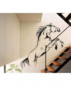 Running Horse Stylish Design Wall Decal BNS-193