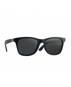 Latasha Classic Black Frame Gray Mirror Polarized Sunglasses For Men
