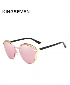 King Seven Pink Cat Eye Sunglasses