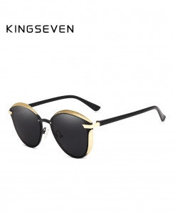 King Seven Golden Gray Cat Eye Sunglasses