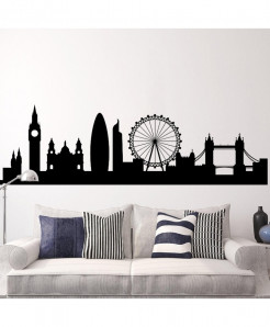 Modern London Cityscape Skyline Wall Decal BNS-182