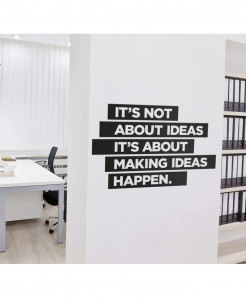 Modern Making Ideas Happen Wall Decal BNS-171