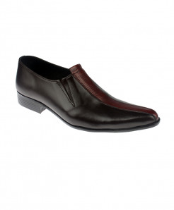 Black Leather Slip On Stylish Loafer Shoes LC-343