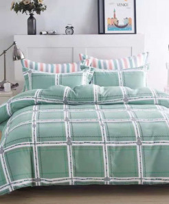 Square Pattern Printed Cotton Bedsheet RB-7091