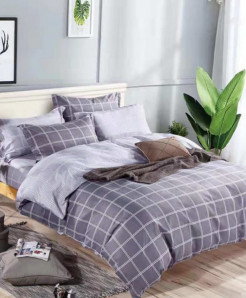 Boxes Pattern Printed Cotton Bedsheet RB-7100