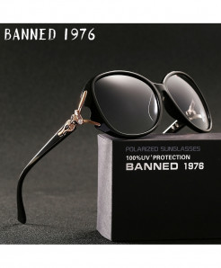BANNED Black 1976 Polarized UV Protection Sunglasses
