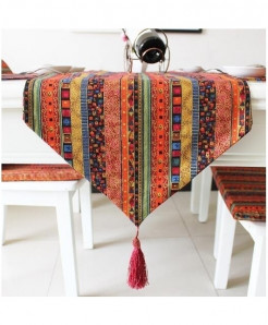 Varicolored Vintage Table Runner Cloth