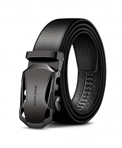 BISON Black Cow Leather Stylish Design Belt