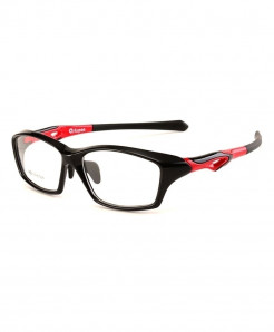 Toptical Black Red Basketball Eyeglasses Ultra-light