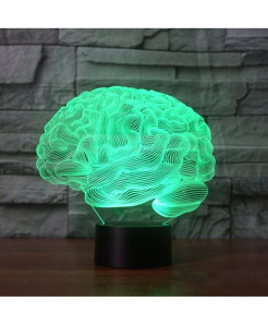 Hapeisy Brain Shape 3D Illusion Acrylic Desk Lamp