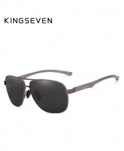 KINGSEVEN Gun Gray Aluminum Polarized Sunglasses