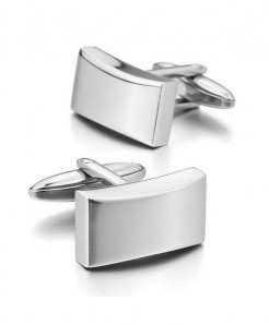 Silver Square Stylish Design Cufflinks