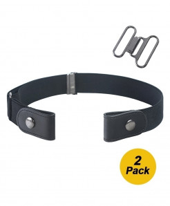 2Pcs Buckle Free Adjustable Belt