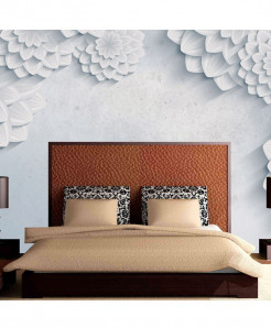 3D Abstract White Flowers Wallpaper BNS-291