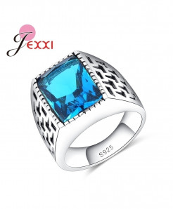 JEXXI Blue Crystal Stone Ring