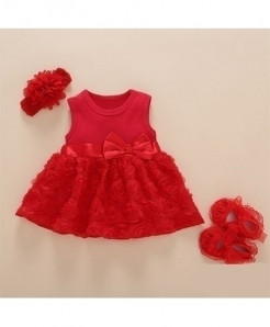Foohinck Red New Born Baby Girls Infant Dress Set