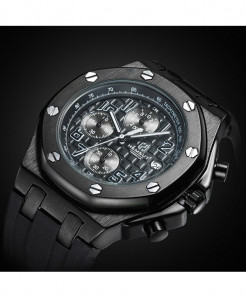 TORBOLLO Black Water Resistant Quartz Watch