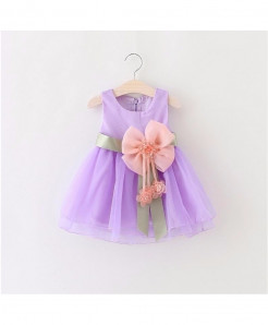 AiLe Rabbit Lavender Sleeveless Lace Dress