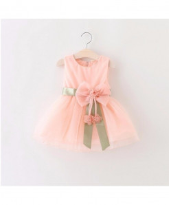 AiLe Rabbit Pink Sleeveless Lace Dress