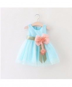 AiLe Rabbit Sky Blue Sleeveless Lace Dress