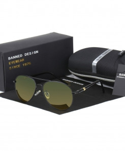 BANNED 1975 Black Day and Night Version Polarized Sunglasses