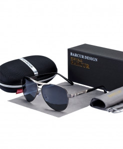 BARCUR Gun Gray Polarized Sunglasses