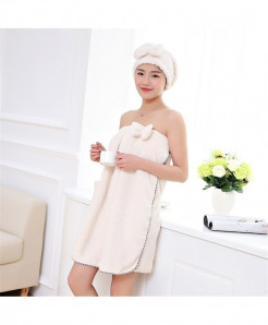 White Soft Magic Wearable Lady Bath Towel