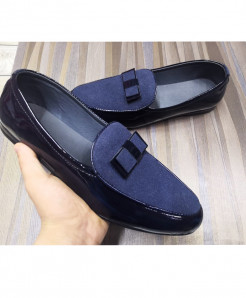 Blue Stylish Design Slip-On Loafers LW-7188