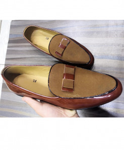 Brown Stylish Design Slip-On Loafers LW-7189