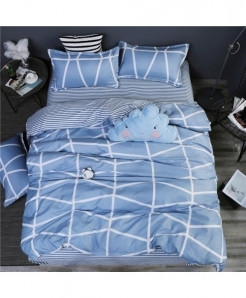 Love Blue Classic Pastoral Stylish Bedsheet