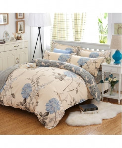 Dual Tone Simple Floral Classic Pastoral Stylish Bedsheet